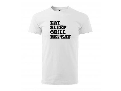 Pánské tričko eat sleep grill repeat (1)