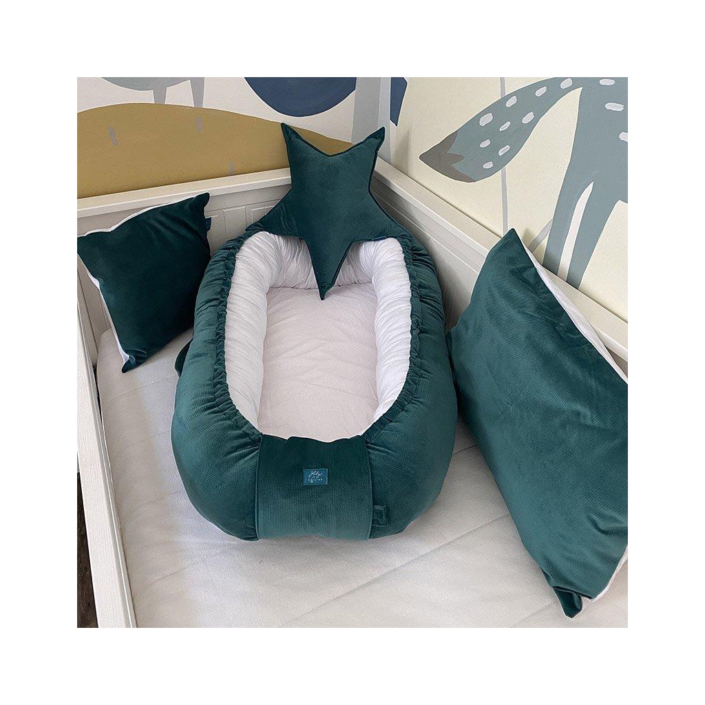 Hnízdečko Smaragd velvet