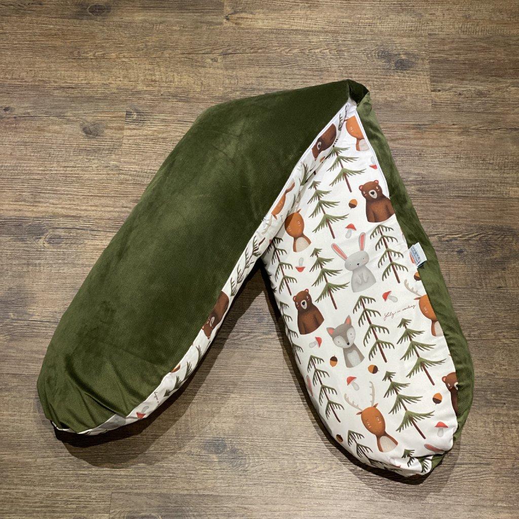 Kojicí polštář Lesní život khaki