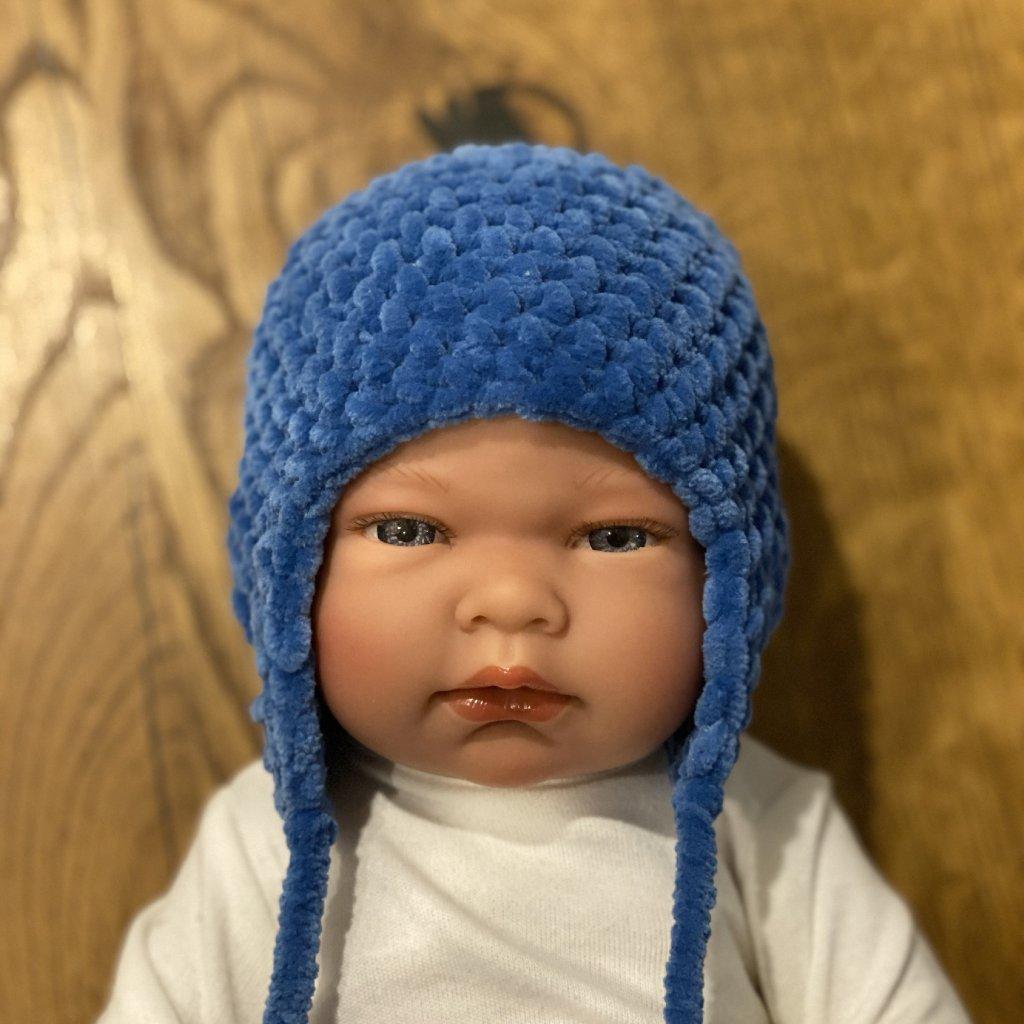 Pletená čepička tmavě modrá
