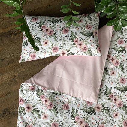 Povlečení Garden of roses pink bavlna