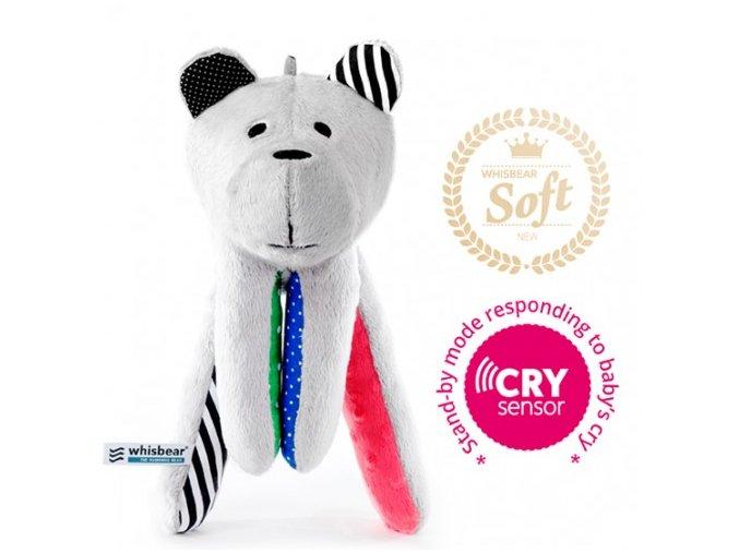 Whisbear Šumící Medvídek Soft - Kombinace Meloun