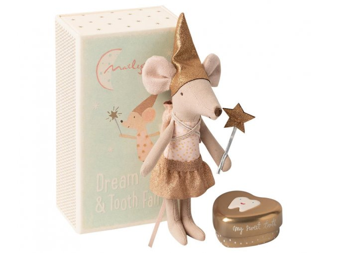 maileg tooth fairy big sister mouse with box