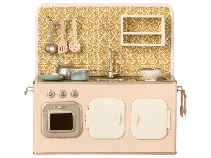 MAILEG retro kuchyňka růžová plus sada kuchyňských doplňků