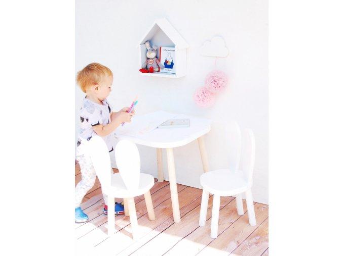 Bambooko Sada pro děti - stůl + 2 králičí židle
