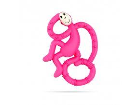 mini monkey hryzatko s antimikrobialnym povrchom biocote ruzove