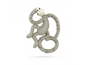 mini monkey hryzatko s antimikrobialnym povrchom biocote sede