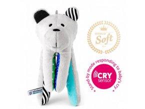 Whisbear Šumící Medvídek Soft - Kombinace Tyrkysovà