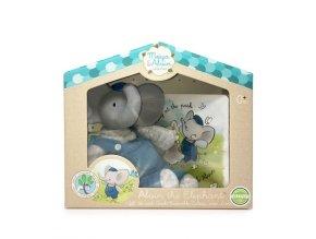 Meiya & Alvin Dárkový set knížka + hračka sloník Alvin