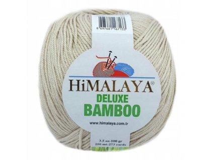 Příze Deluxe Bamboo 124-21 béžová  Pletací a háčkovací příze
