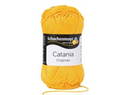Catania 208 kanárková  pletací a háčkovací příze, 100% bavlna