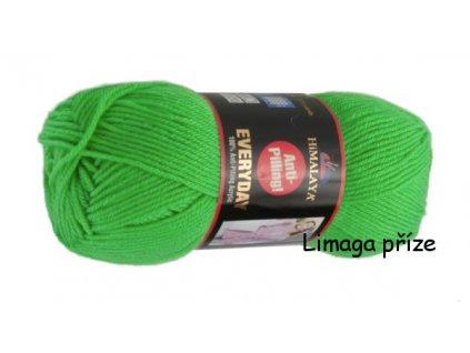 Příze Everyday 70050 neonově zelená cena za 2ks  pletací a háčkovací příze, 100% akryl