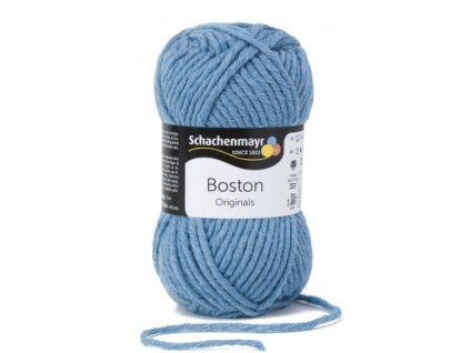 Příze Boston 155 modrá jeans  70% AKRYL, 30% STŘIŽNÍ VLNA