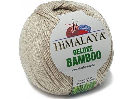 Příze Deluxe Bamboo 124-20 béžová natur  Pletací a háčkovací příze