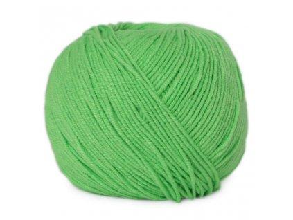 PŘÍZE JEANS 8155 jarní zelená  PLETACÍ A HÁČKOVACÍ PŘÍZE
