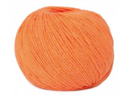PŘÍZE JEANS 8301 neon oranžová  Pletací a háčkovací příze