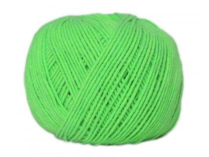 PŘÍZE JEANS 8302 neon zelená  Pletací a háčkovací příze