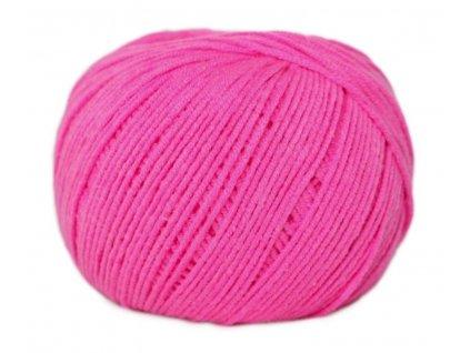 PŘÍZE JEANS 8304 neon růžová  Pletací a háčkovací příze