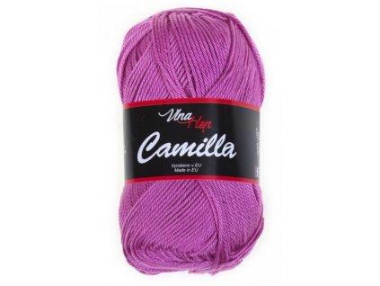 Příze Camilla  8045 fialovo-růžová  pletací a háčkovací příze, 100% bavlna