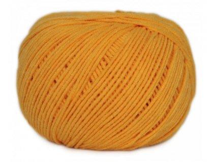 Příze Jeans 8182 žlutá slunečnicová  PLETACÍ A HÁČKOVACÍ PŘÍZE
