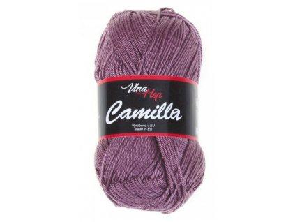 Příze Camilla 8077 starofialová  PLETACÍ A HÁČKOVACÍ PŘÍZE 100% bavlna