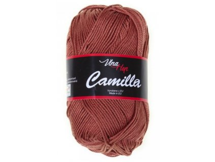 Příze Camilla 8211 měděně hnědá  PLETACÍ A HÁČKOVACÍ PŘÍZE 100% bavlna