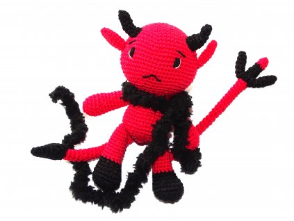 Háčkovaný ďáblík  HÁČKOVANÉ DEKORACE