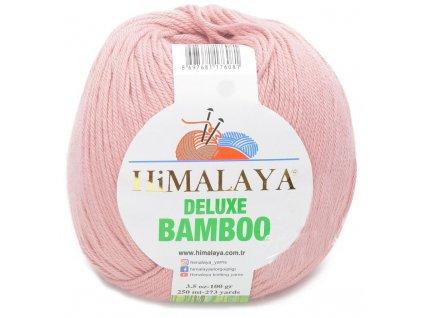 Příze Deluxe Bamboo 124-44 lososově růžová  Pletací a háčkovací příze, 40% bavlna + 60% bambus