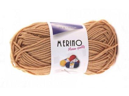 Příze Merino 14741 béžová  Pletací a háčkovací příze, 50% vlna + 50% akryl