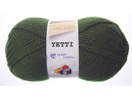Příze Yetti 55075  vojenská zelená  100% AKRYL