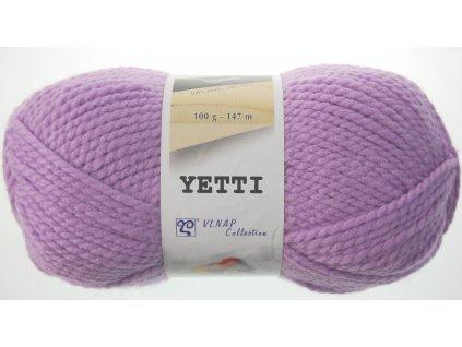 Příze Yetti 53111 fialová  100% akryl