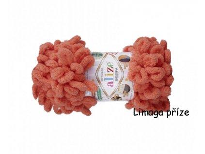 Příze Puffy korálová 619  Pletení na rukou 100% polyester