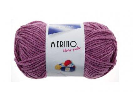 Příze Merino 14773 světle fialová  PLETACÍ A HÁČKOVACÍ PŘÍZE, 50% VLNA + 50% AKRYL