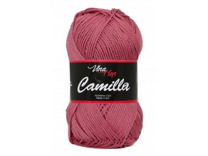 Příze Camilla 8029 tmavě starorůžová  pletací a háčkovací příze, 100% bavlna