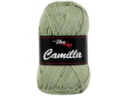 Příze Camilla 8166 světle khaki  pletací a háčkovací příze, 100% bavlna