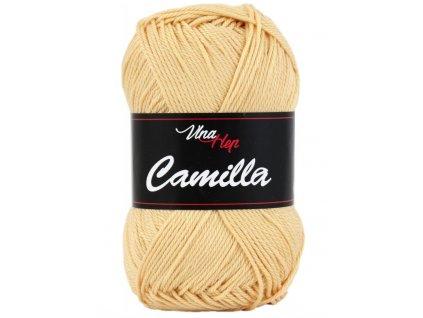 Příze Camilla 8191 světle okrová  pletací a háčkovací příze, 100% bavlna