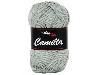 Příze Camilla 8237 šedozelená  pletací a háčkovací příze, 100% bavlna
