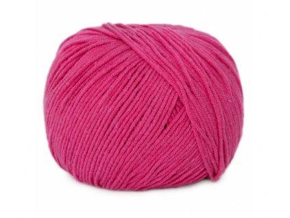 Příze Jeans  8037 sytě růžová  Pletací a háčkovací příze 50% bavlna + 50% akryl