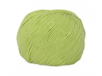 Příze Jeans  8145 pistáciová zelená  Pletací a háčkovací příze 50% bavlna + 50% akryl