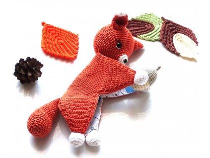 Háčkovaná veverka usínáček  háčkované dekorace handmade