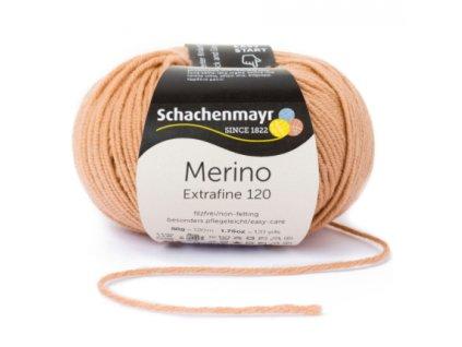 Merino Extrafine 105 velbloudí hnědá  100% EXTRAFINE MERINO
