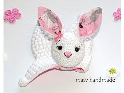 Háčkovaný zajíček usínáček  háčkované dekorace handmade