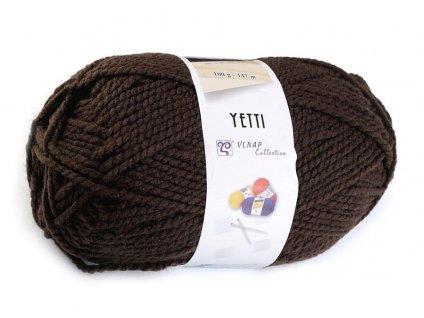 Příze Yetti 51191 hnědá  pletací a háčkovací příze, 100% akryl