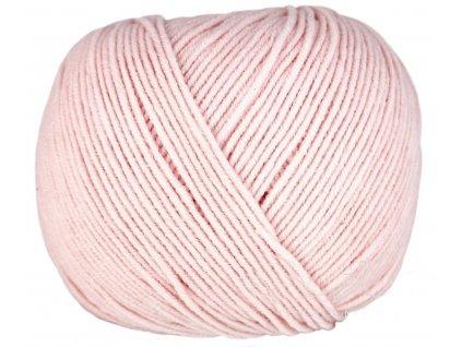 Příze Jeans 8003 pastelově růžová  PLETACÍ A HÁČKOVACÍ PŘÍZE