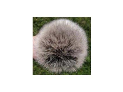 Bambule 89 béžovo hnědá krátký vlas  Bambule ozdobná na čepice, PRŮMĚR 13 CM