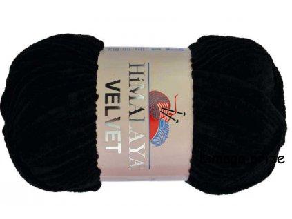 příze Velvet 90011 černá  PLETACÍ A HÁČKOVACÍ PŘÍZE DĚTSKÉ