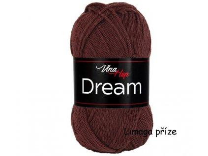 příze Dream 6407 hnědá  100% MERINO VLNA PLETACÍ A HÁČKOVACÍ PŘÍZE