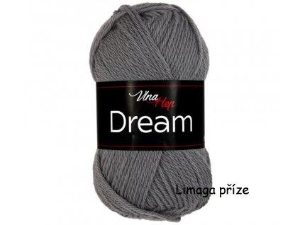 příze Dream 6410 šedá  100% MERINO VLNA PLETACÍ A HÁČKOVACÍ PŘÍZE