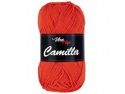 Příze Camilla 8198 tmavě oranžová  pletací a háčkovací příze, 100% bavlna