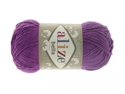 Příze Bella 45 fialová  pletací a háčkovací příze, 100% bavlna